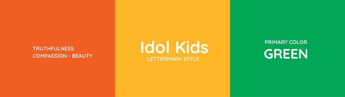 brandidentity craft EMOBREAKERAGENCY idolkids ILLUSTRATION kids musicacademy papercut vietnam vupham2408