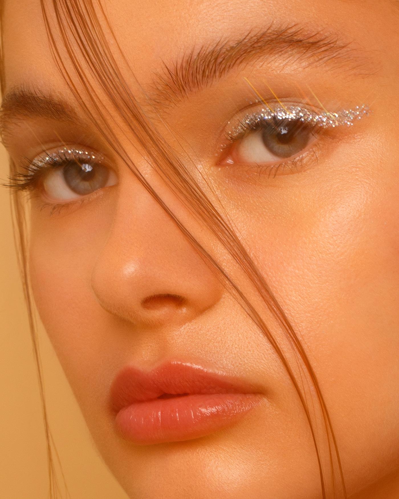 beauty photography berlin photographer Glitter Macro Photography makeup model Photography  portrait photography retouch Studio Photography