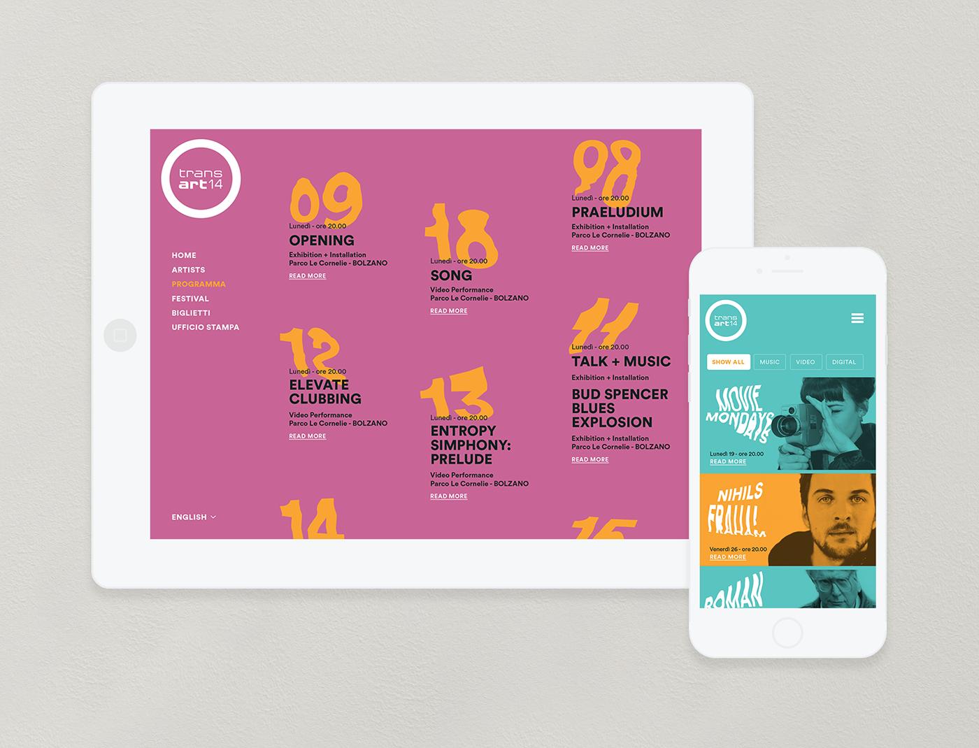 distortion festival iphone Webdesign Program poster art visual identity type palette