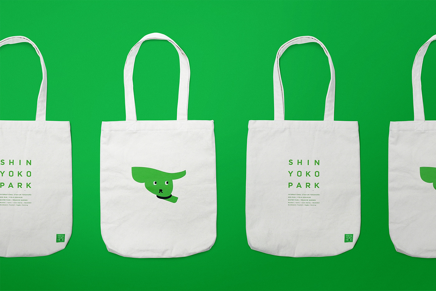 apparel bag branding  dog green Packaging Park stadium towel tshirt