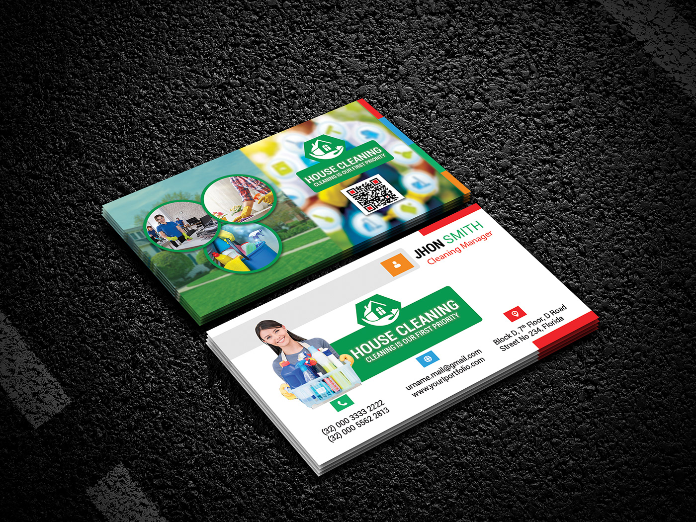 business card cards carpet clean cleaner commercial corporate eco glass