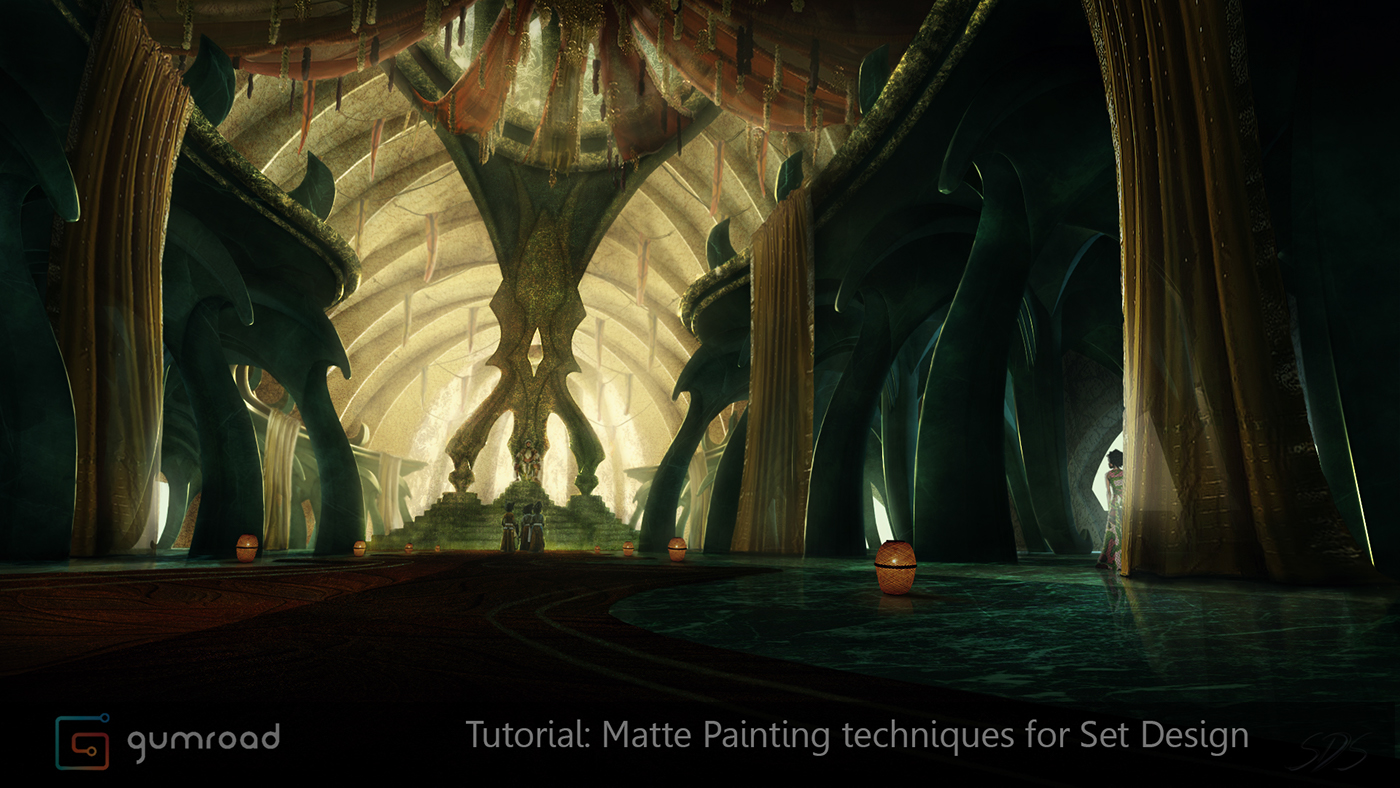 Tutorial matte painting techniques for set design 5 on for Set painting techniques