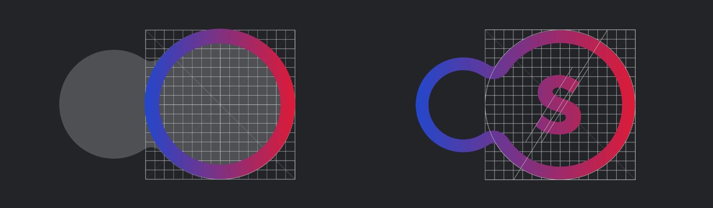 brand branding  Webdesign corporate logo icons gradient