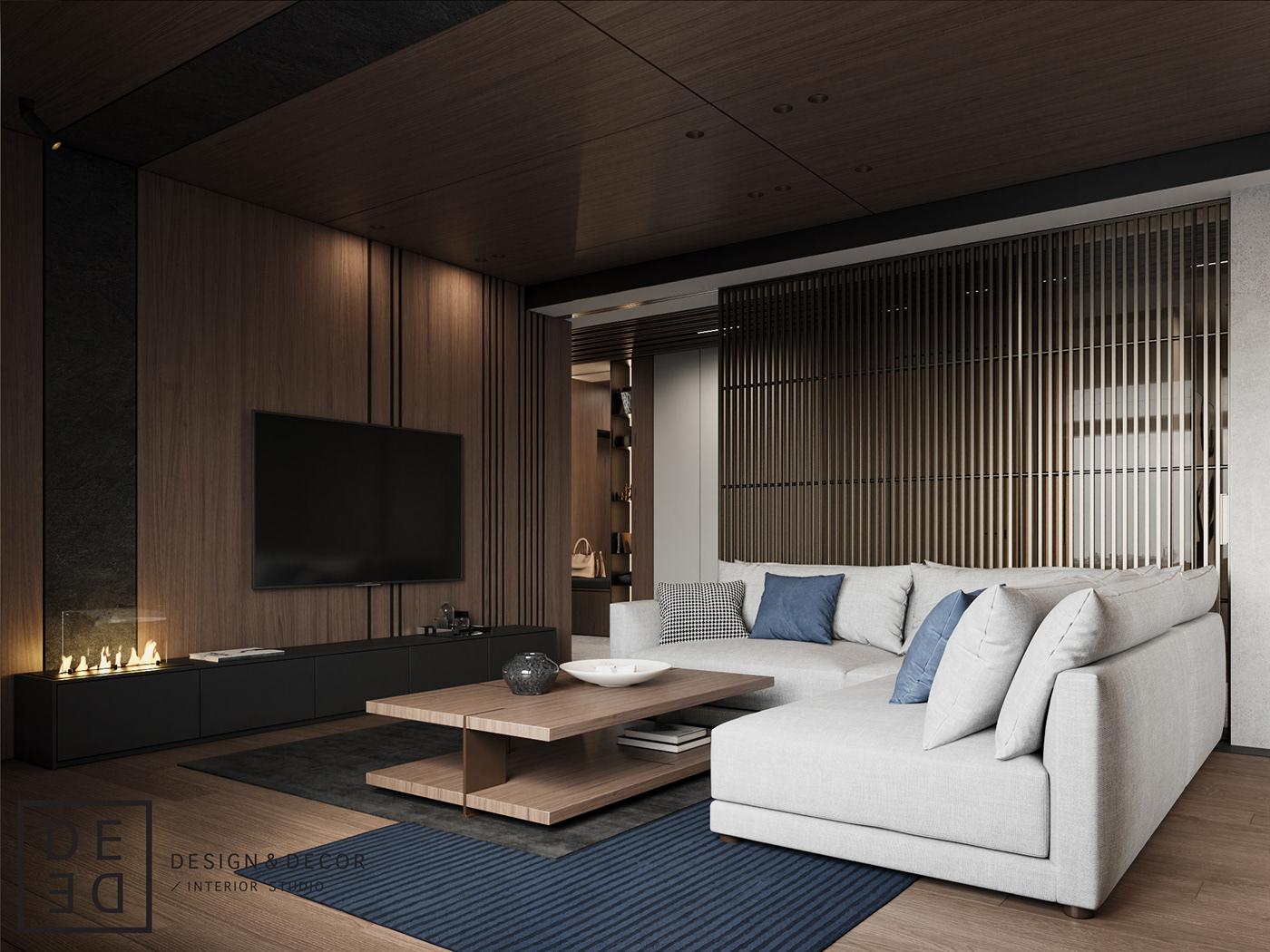 Interior design interiordesign architecture Minimalism modern architecture design DE&DE Interior Studio corona render  photoshop