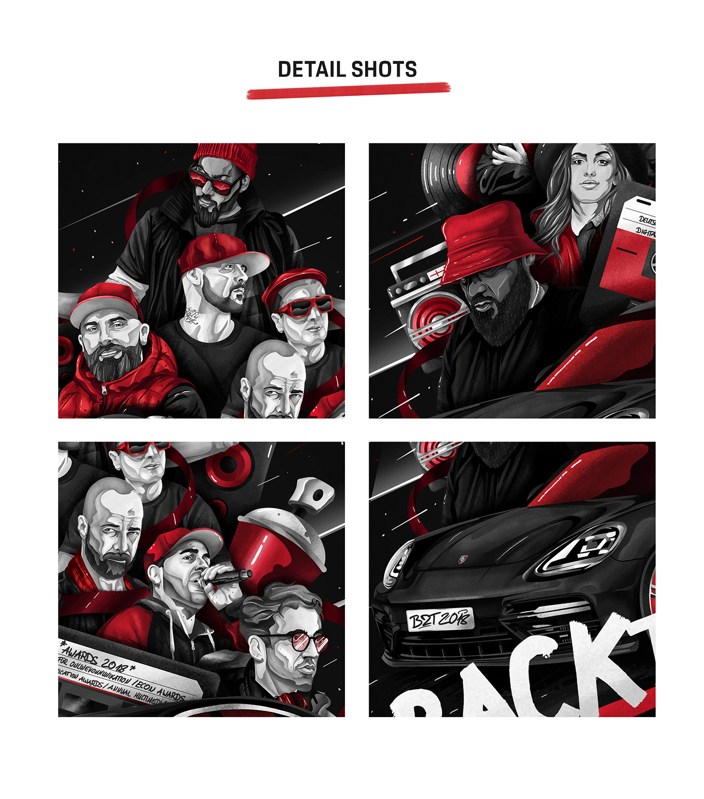 automobile hip-hop Hip-Hop Culture music Porsche portrait poster print