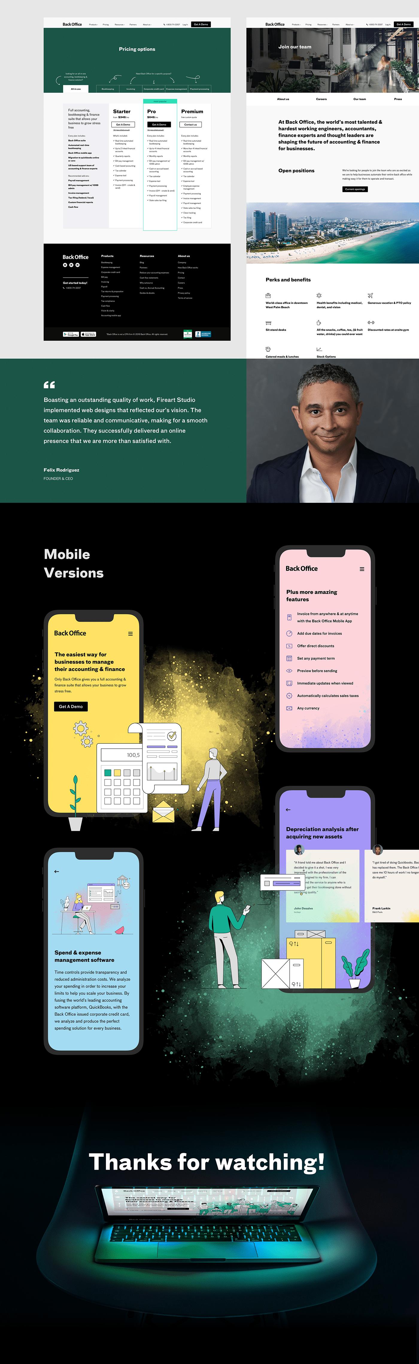 illustrations product Web Website finance management
