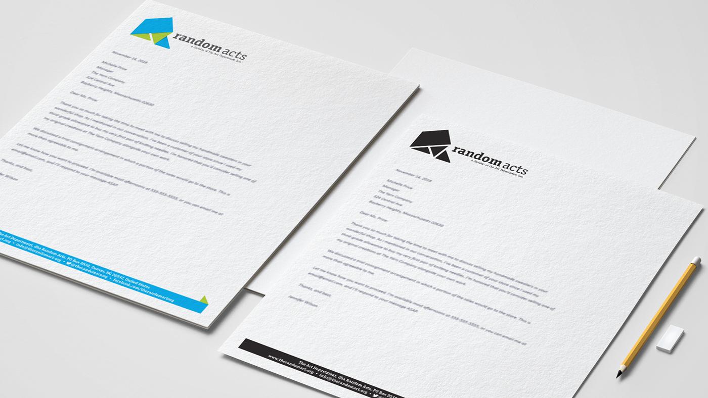 Rebrand brand identity design Web graphic random Acts