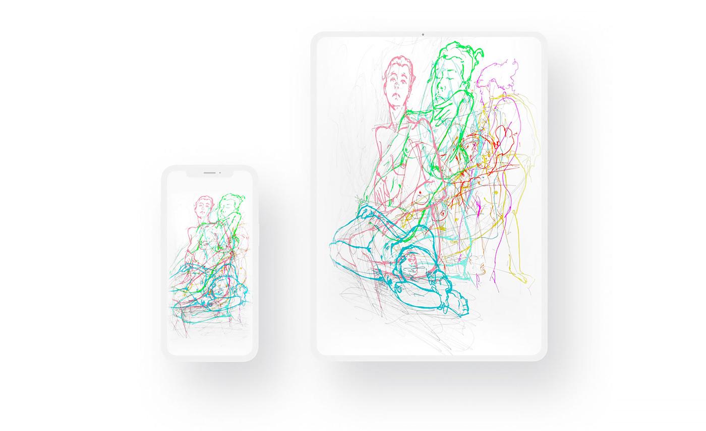 Drawing  AdobeSketch Adobe Photoshop Sketch Behance Adobe Aero Split series