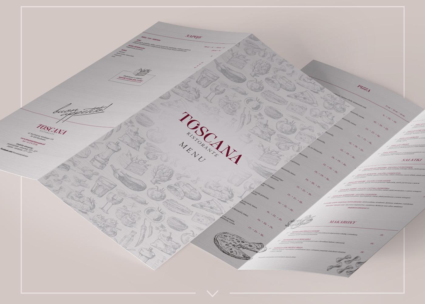 logo mark restaurant ristorante Pizza Pasta italian package fresh toscana Italy