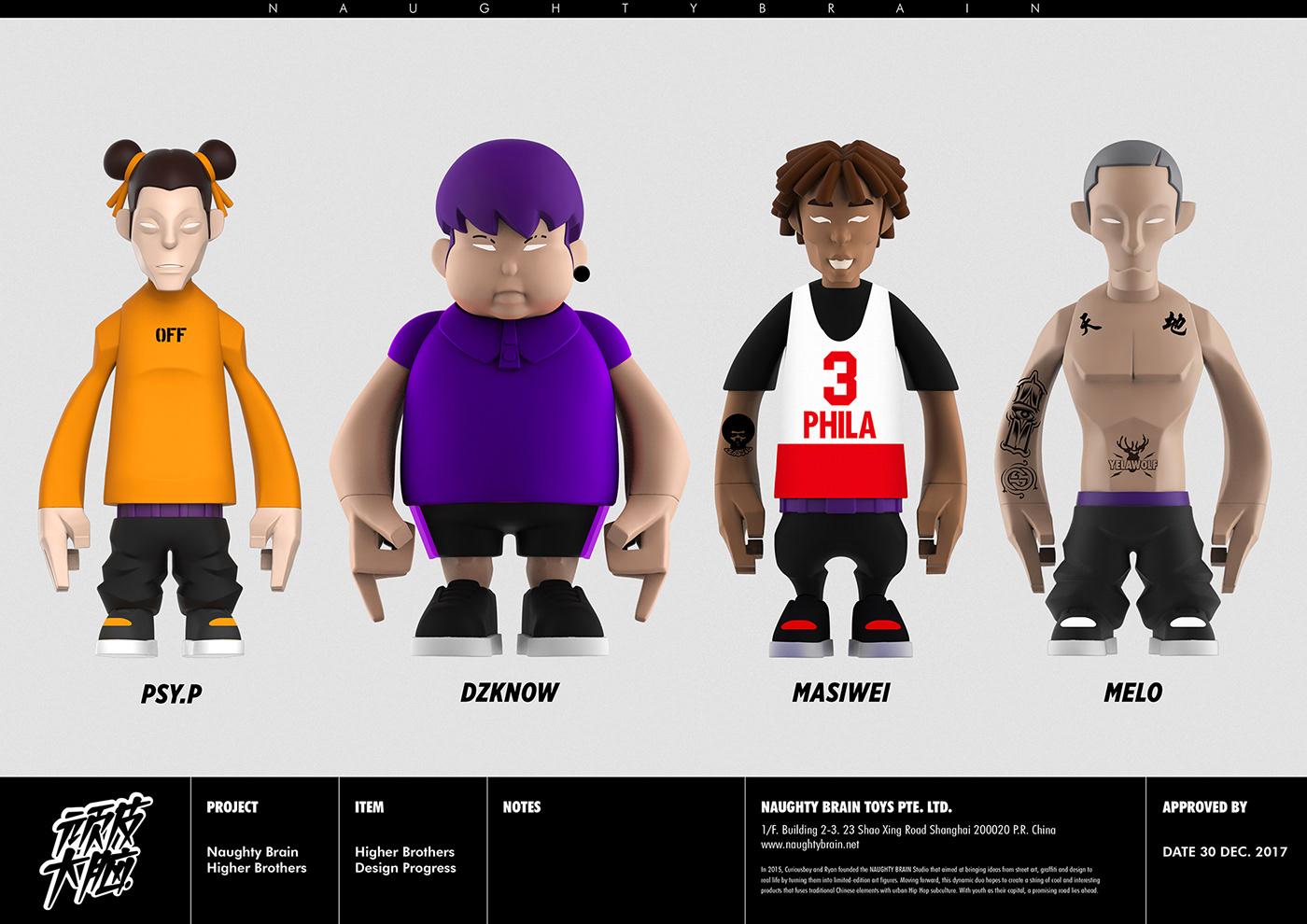naughtybrain,CURIOUSBOY,higherbrothers,arttoy,hiphop,artfigure,designertoys,subculture,toydesign,toymaker