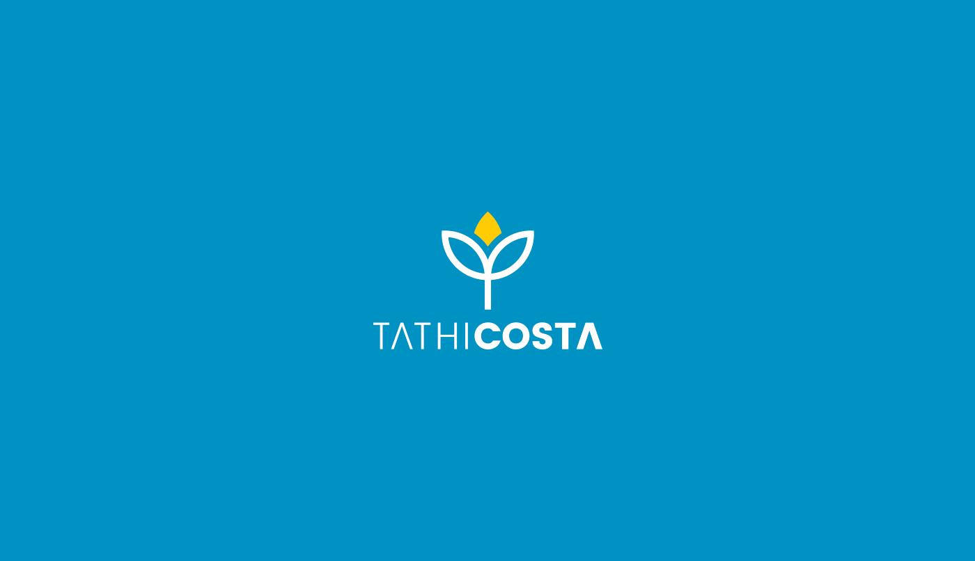 Tathi Costa visual identity Instituto Bem Estar integral Tatiane Costa HUMAN DEVELOPMENT brand grid