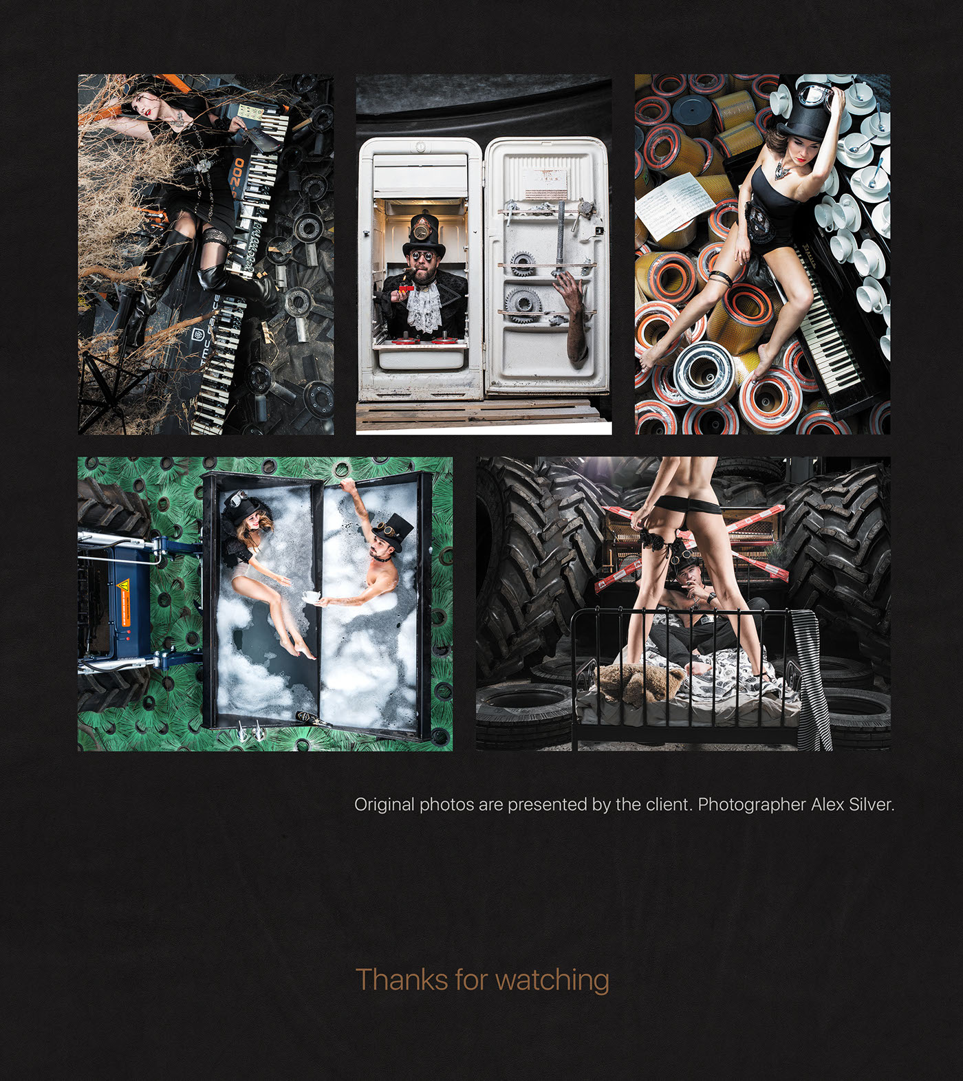calendar design retouching  photomontage print STEAMPUNK