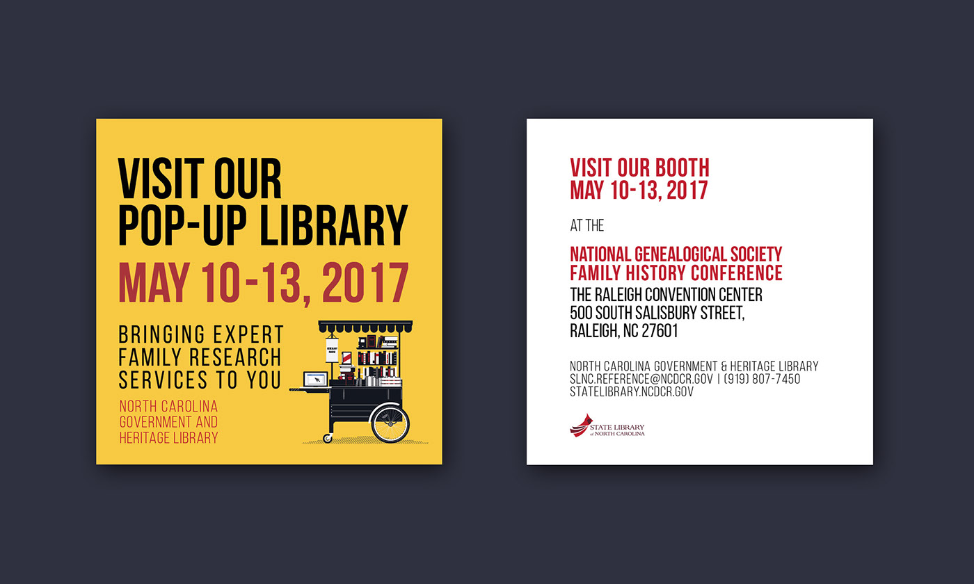 library event flyer design