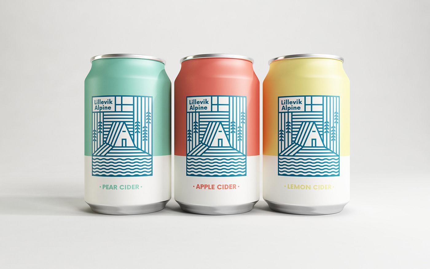 Label cider apple cidra lillevik alpine alcohol Packaging identity visual