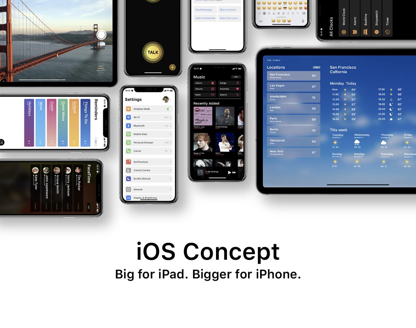 apple ios concept ios concept iphone iPad ios13 macos iPadOS iOS Concept design
