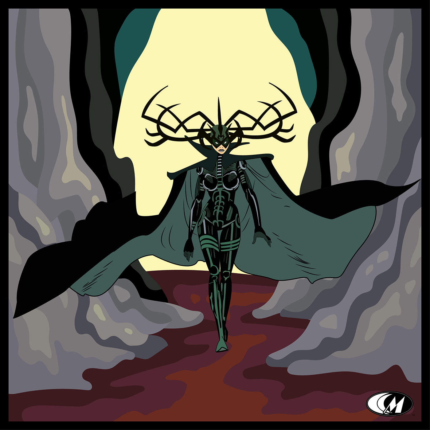 ILLUSTRATION  Digital Art  graphic design  death Thor goddess marvel blood asgard