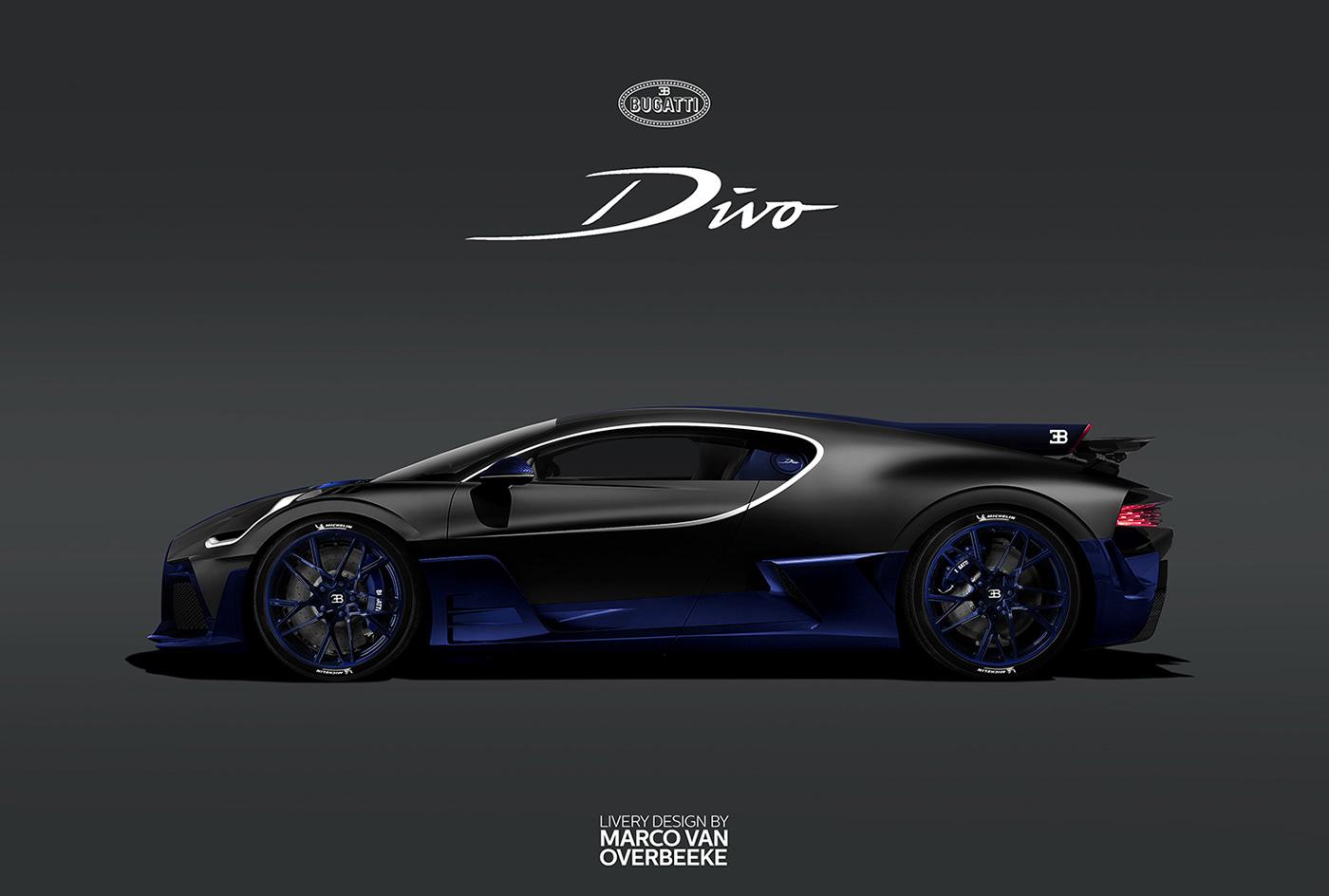 Bugatti Divo Black And Blue Supercars Gallery