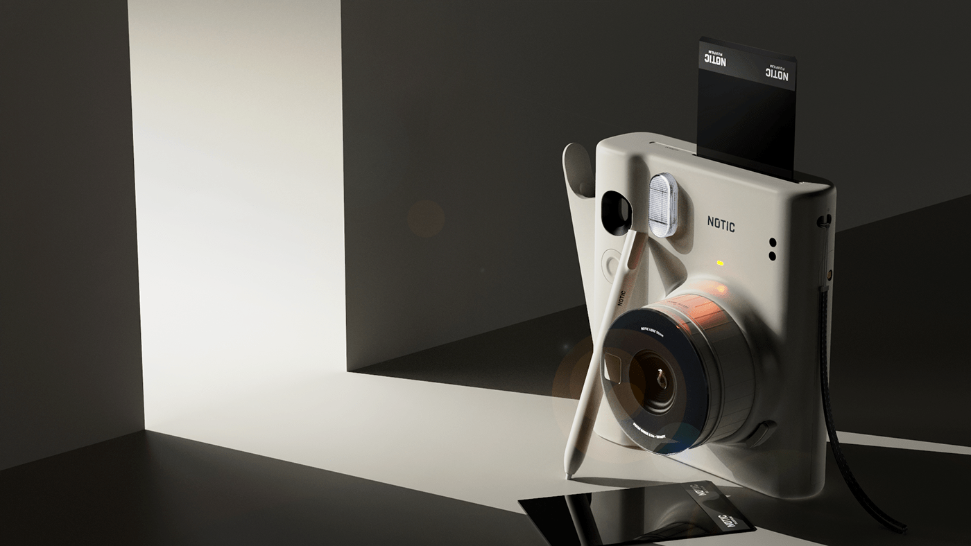 camera CGI concept Drawing  industrial design  Picture POLAROID product product design  Render
