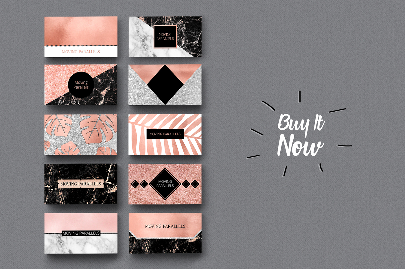 rose gold business cards bundle only for 18 extended license - Rose Gold Business Cards