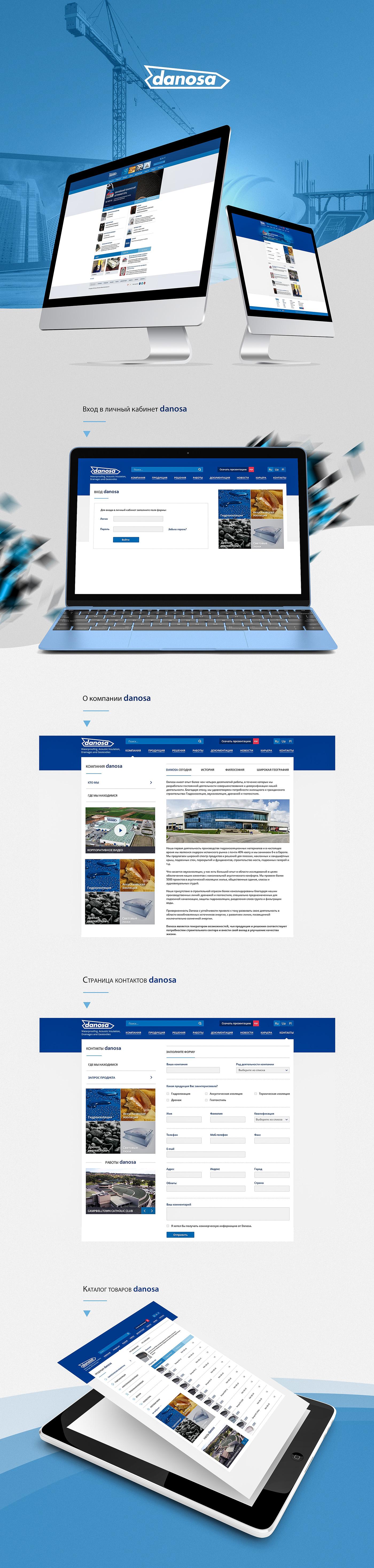 Website Web Design  danosa presentation