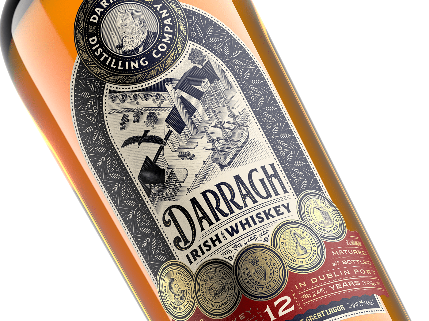 engraving etching ILLUSTRATION  Illustrator line art packaging design Spirits Spirits Packaging Whiskey Whisky
