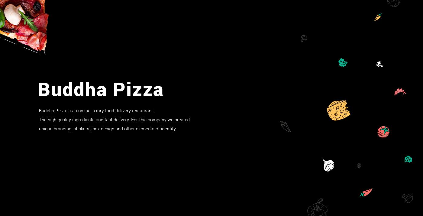 branding  creative ILLUSTRATION  Buddha Pizza pizzeria logo identity delivery cafe
