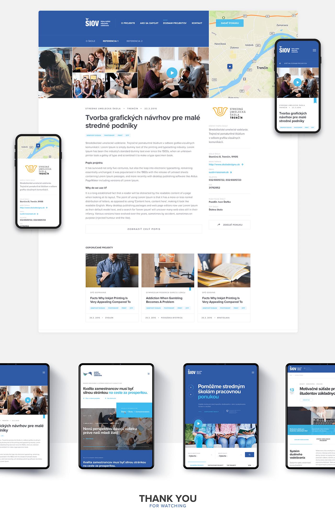 Slovak study Webdesign Web Website user interface user experience school company