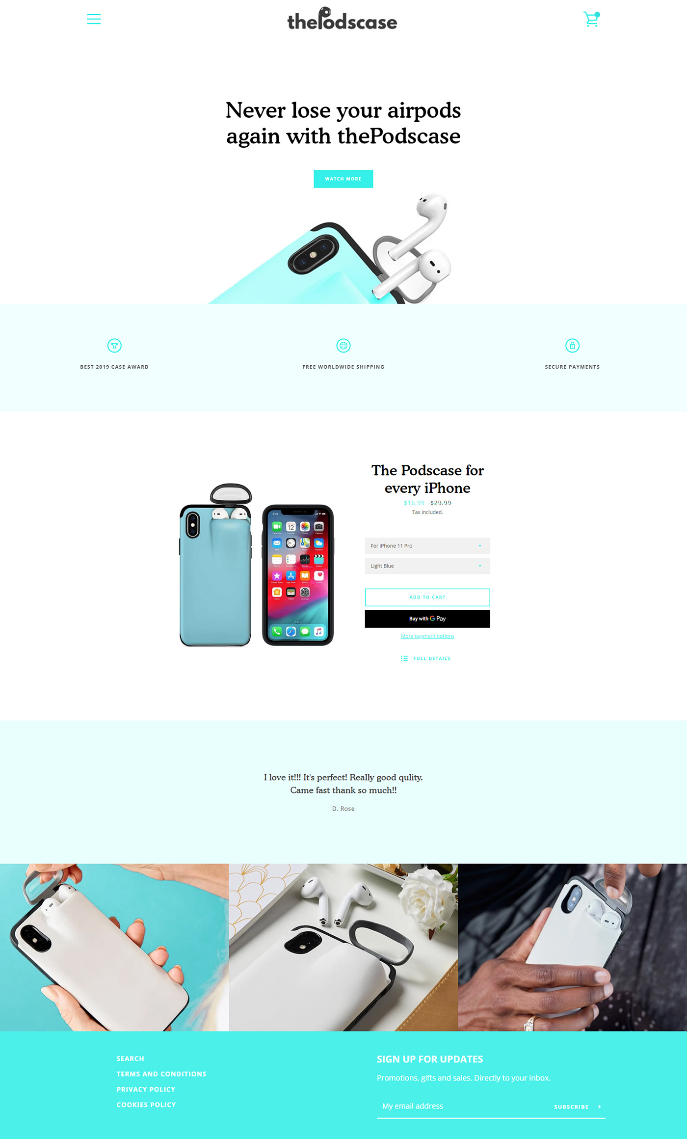 clean iphone landing minimal page site user experience ux Web Web Design