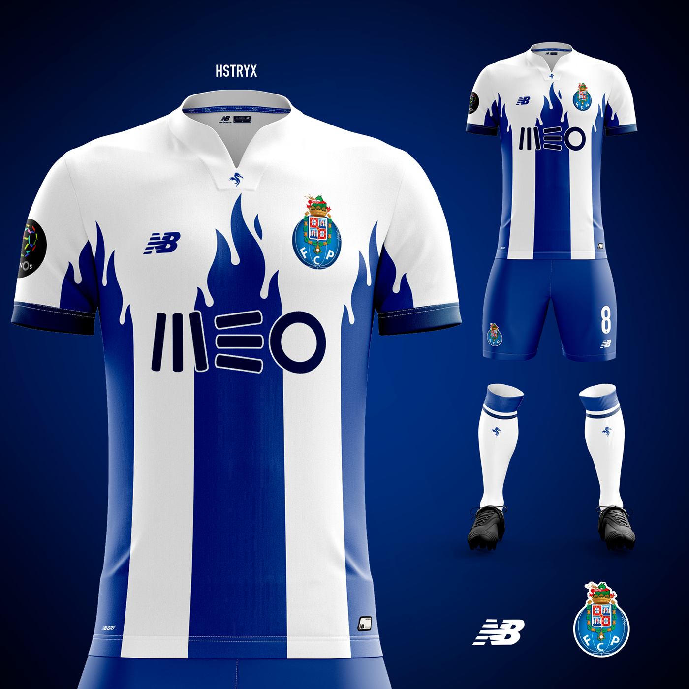 "Fc Porto: Home Kit Concept ""Blue Flames"" On Behance"