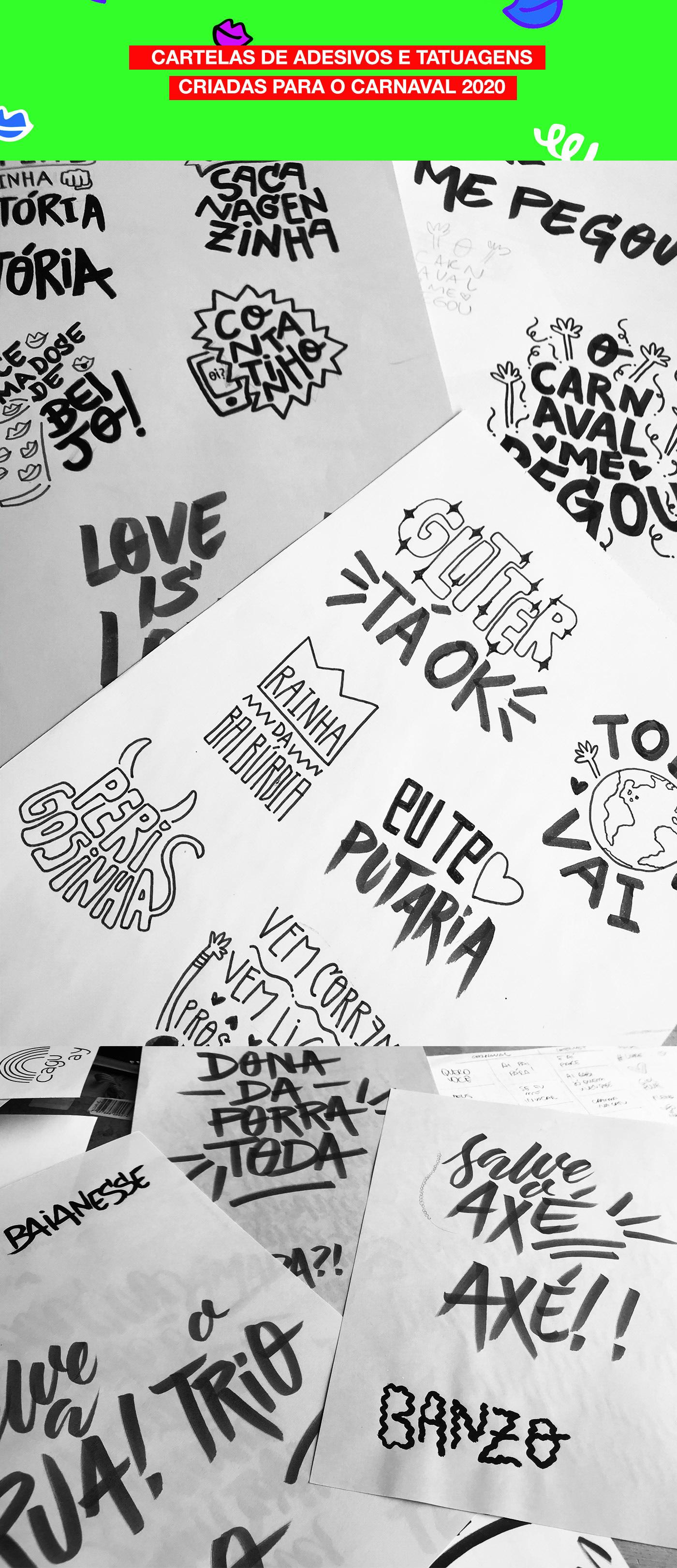 axe,bahia,Calligraphy  ,Carnaval,carnavalsalvador,lettering,music,salvador,stickers,Tatuagem