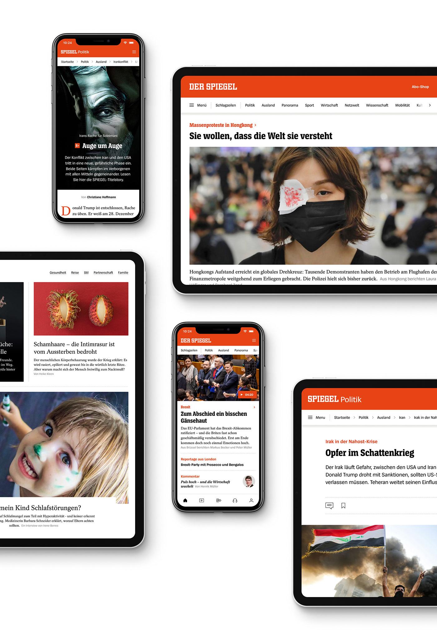 designsystem Digitalnews Interface interfacedesign journalism   madebymake news Spiegel uidesign Webdesign
