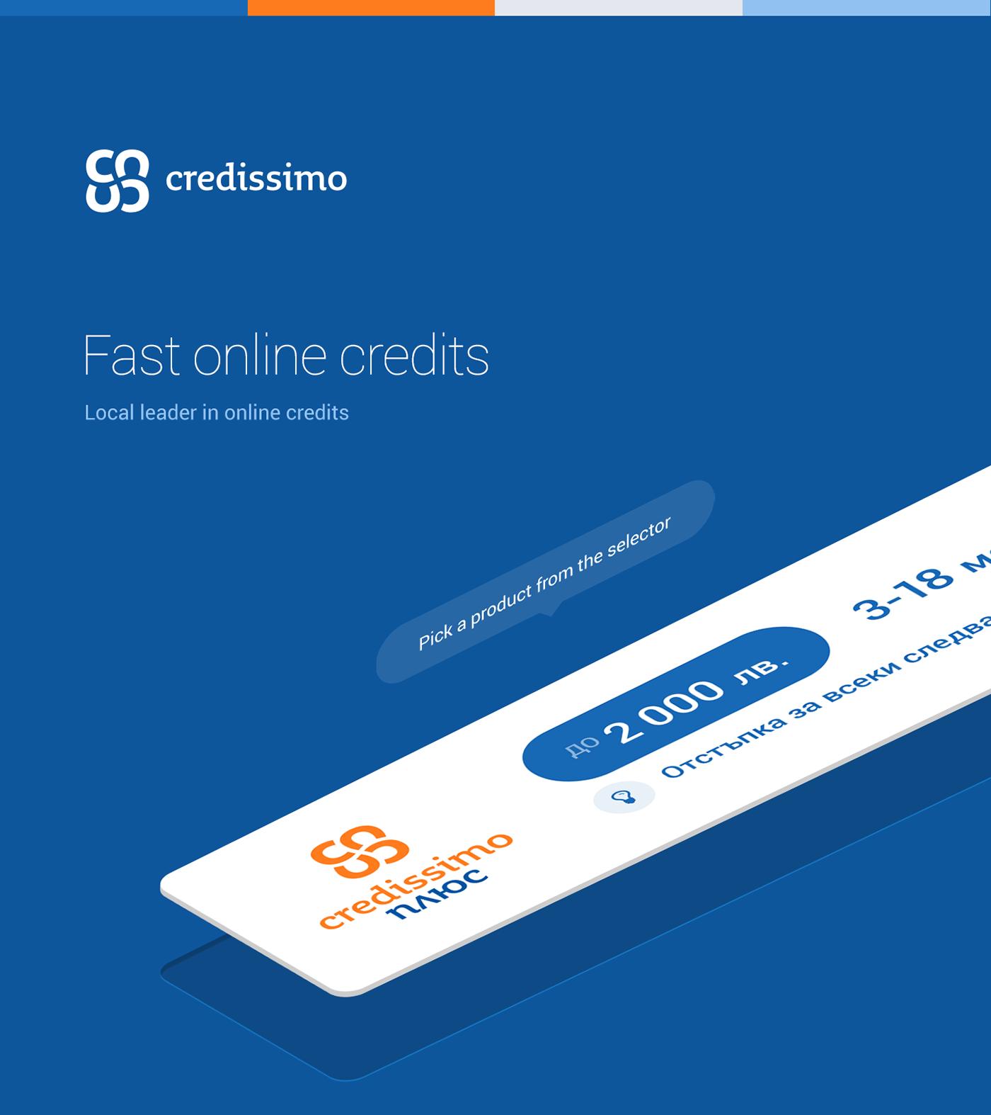 credissimo Online Credits Interface UI Responsive
