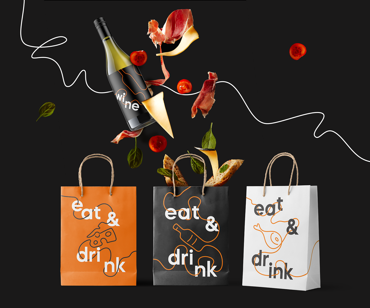 branding ,Cheese,design,Food ,identity,line,motion,store,togotype,wine