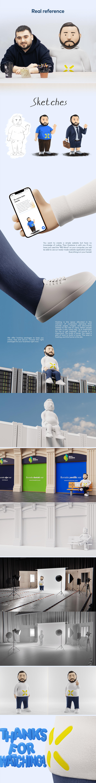 3D art blender 3d creative design digital hostarex Mascot modeling sketch
