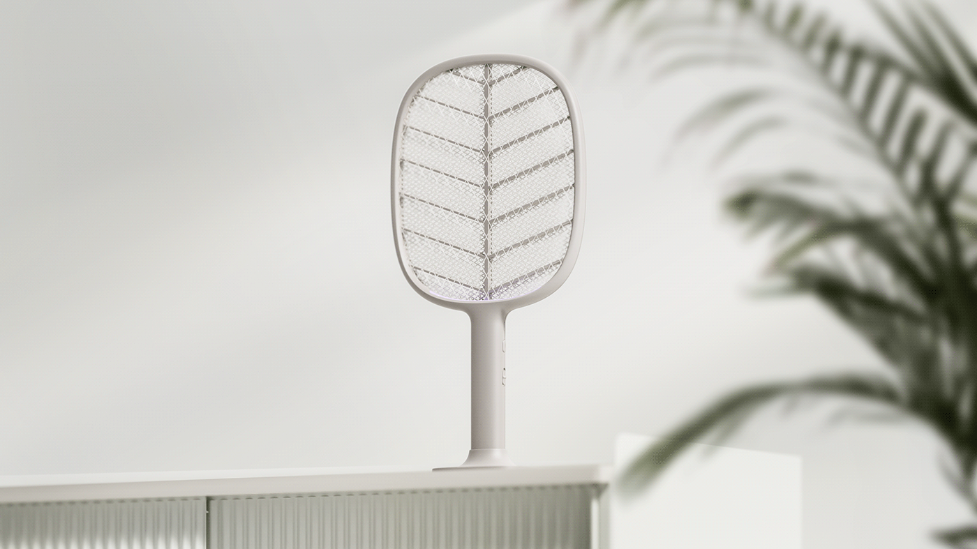 industrial design  mosquitoKiller Mosquitoswatter product product design  second white secondwhite electricswatter summer zapper