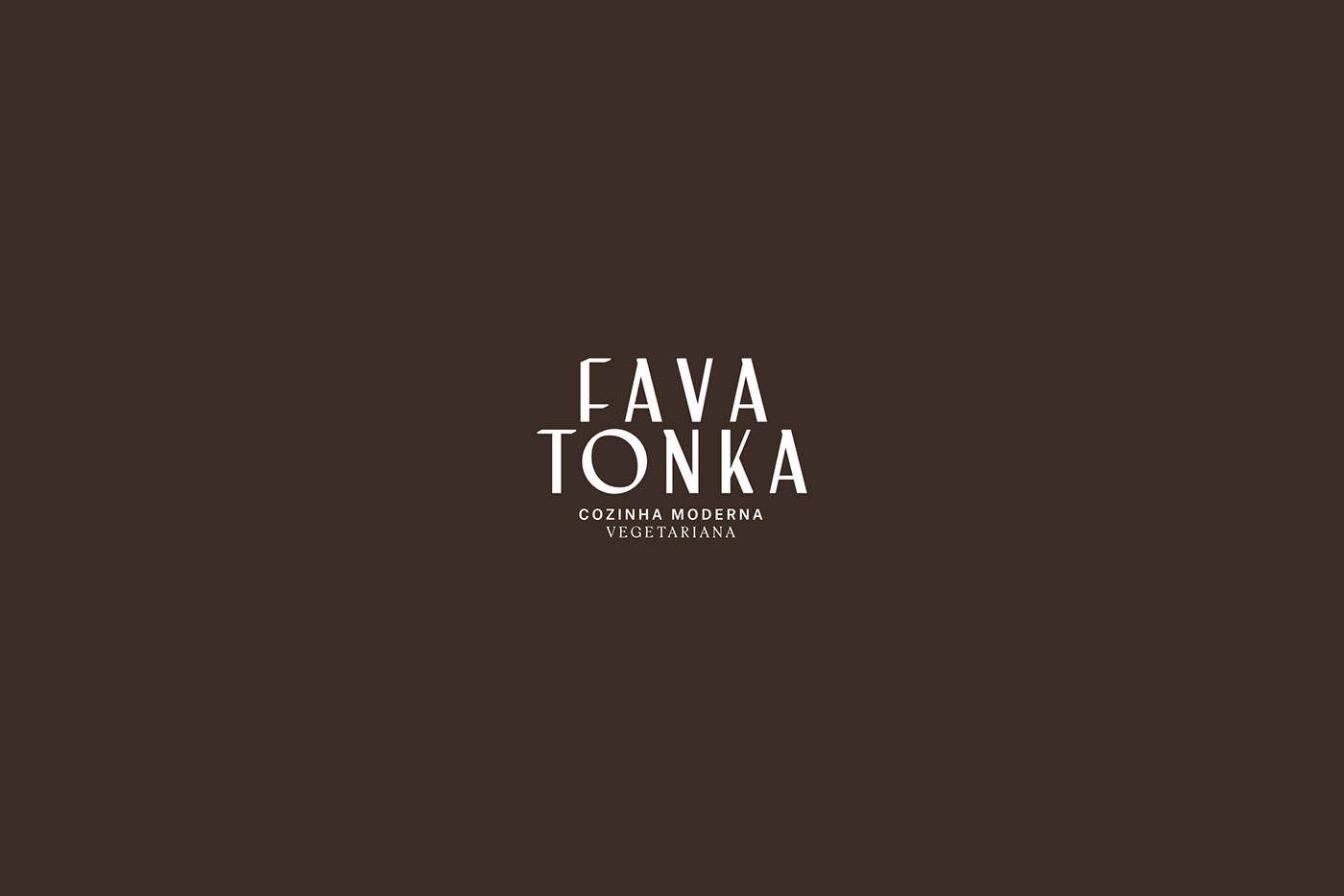 Fava Tonka restaurant branding  Logotype organic Photography  another collective Vegetarian