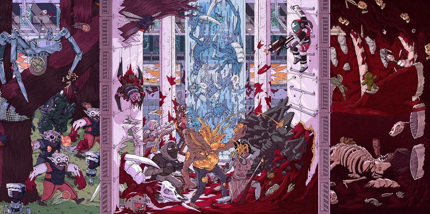 strafe Original soundtrack vinyl music Album video game Pixel Titans Devolver Digital Laced Records