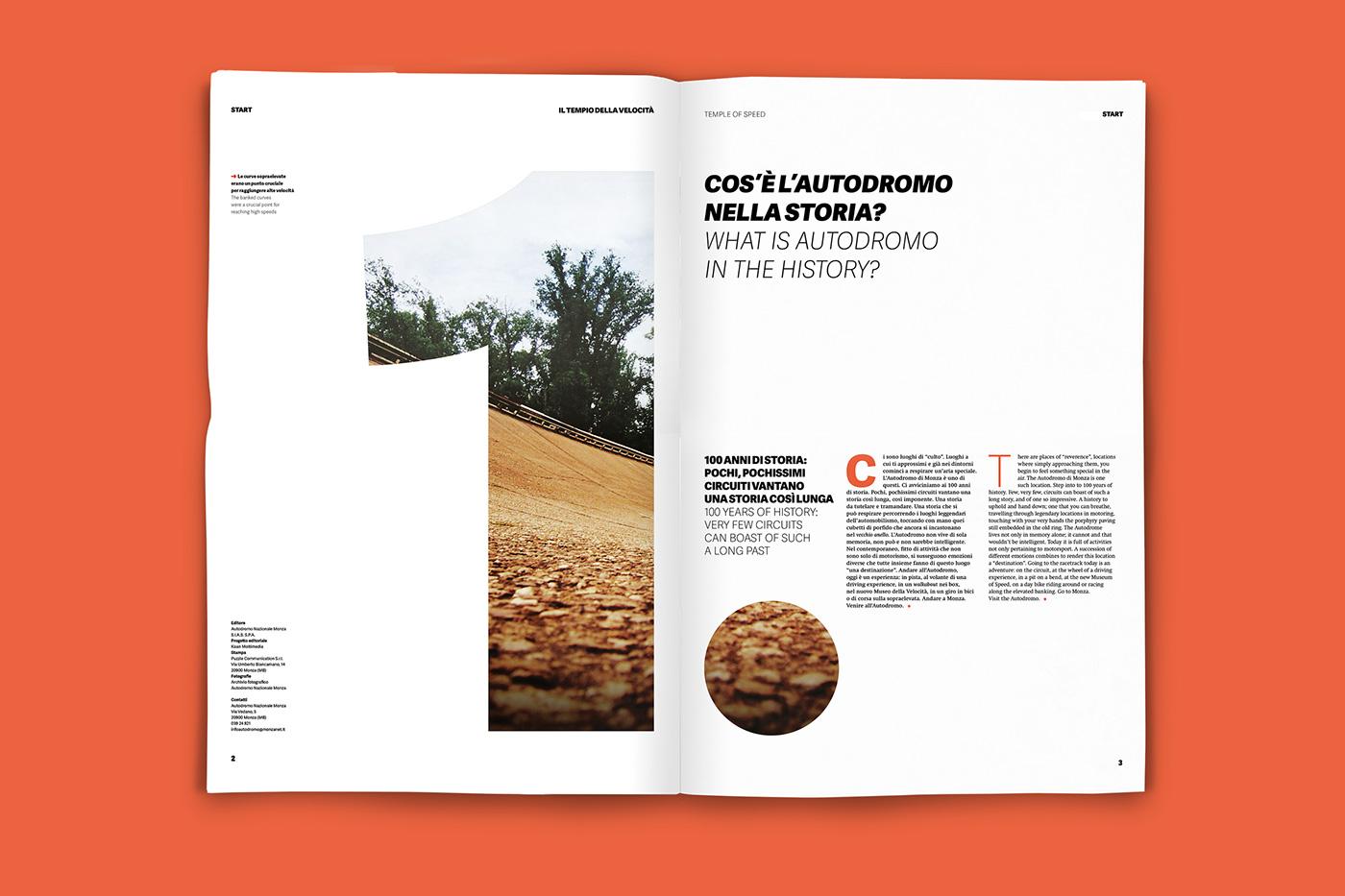 magazine tabloid monza Autodromo editorial car Racing f1