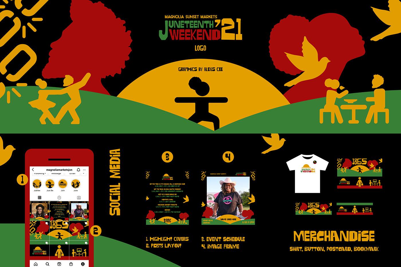 black owned celebration festival freedom june 19th juneteenth market merchandise social media sunset