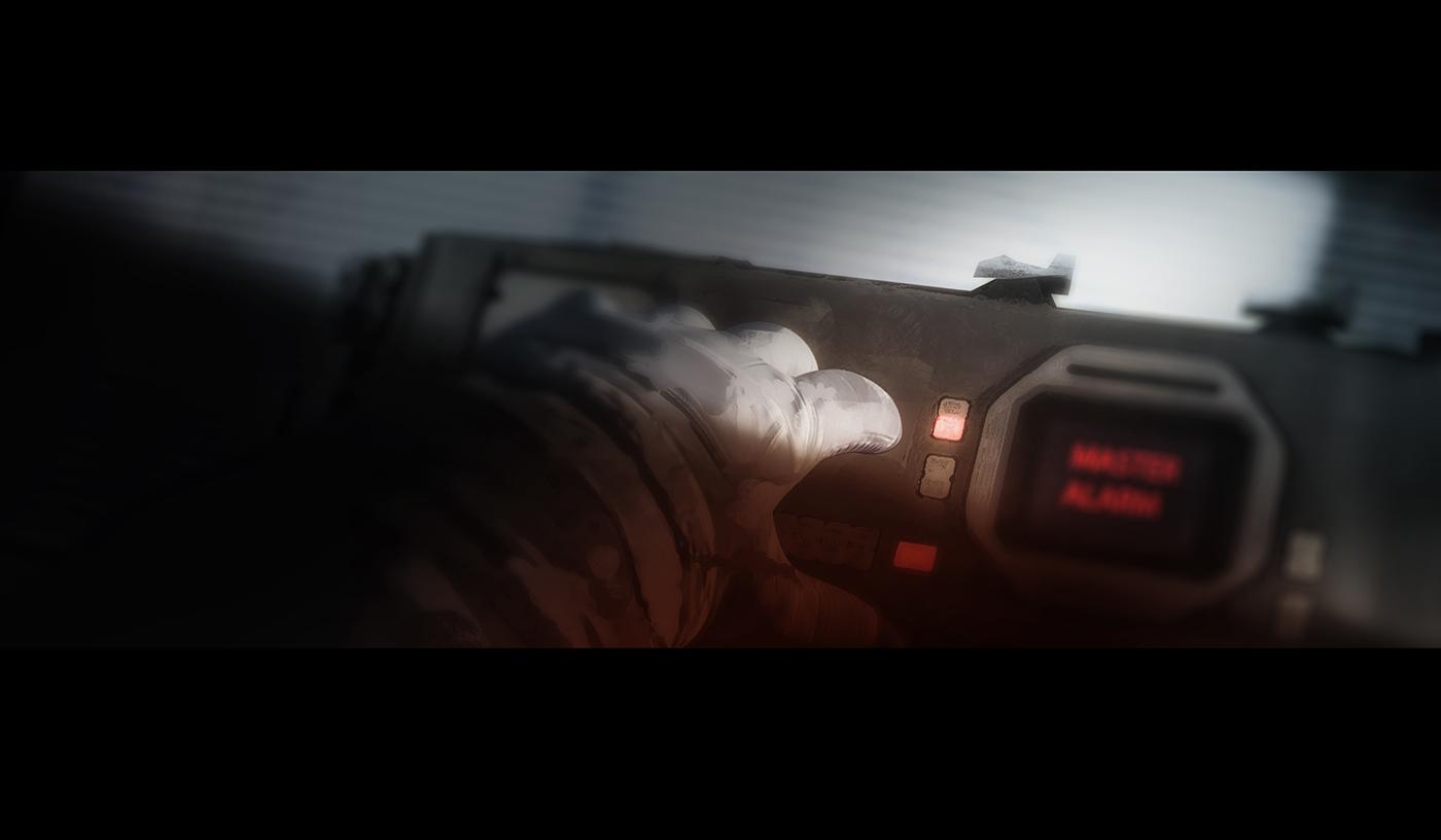 Space  adventure Key-Frame cinematic blue sci-fi short STATION astronaut story