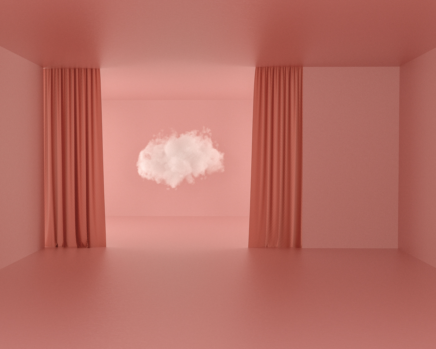 Image may contain: wall and curtain