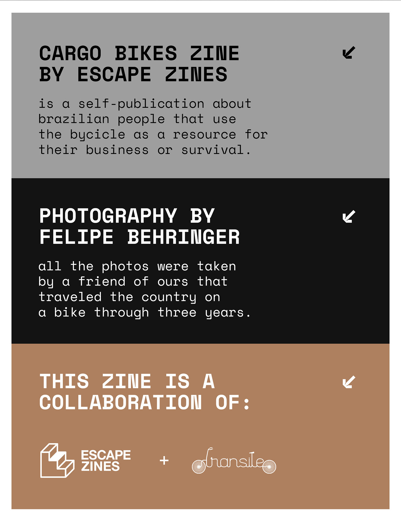 Zine  Photography  bikes Brazil