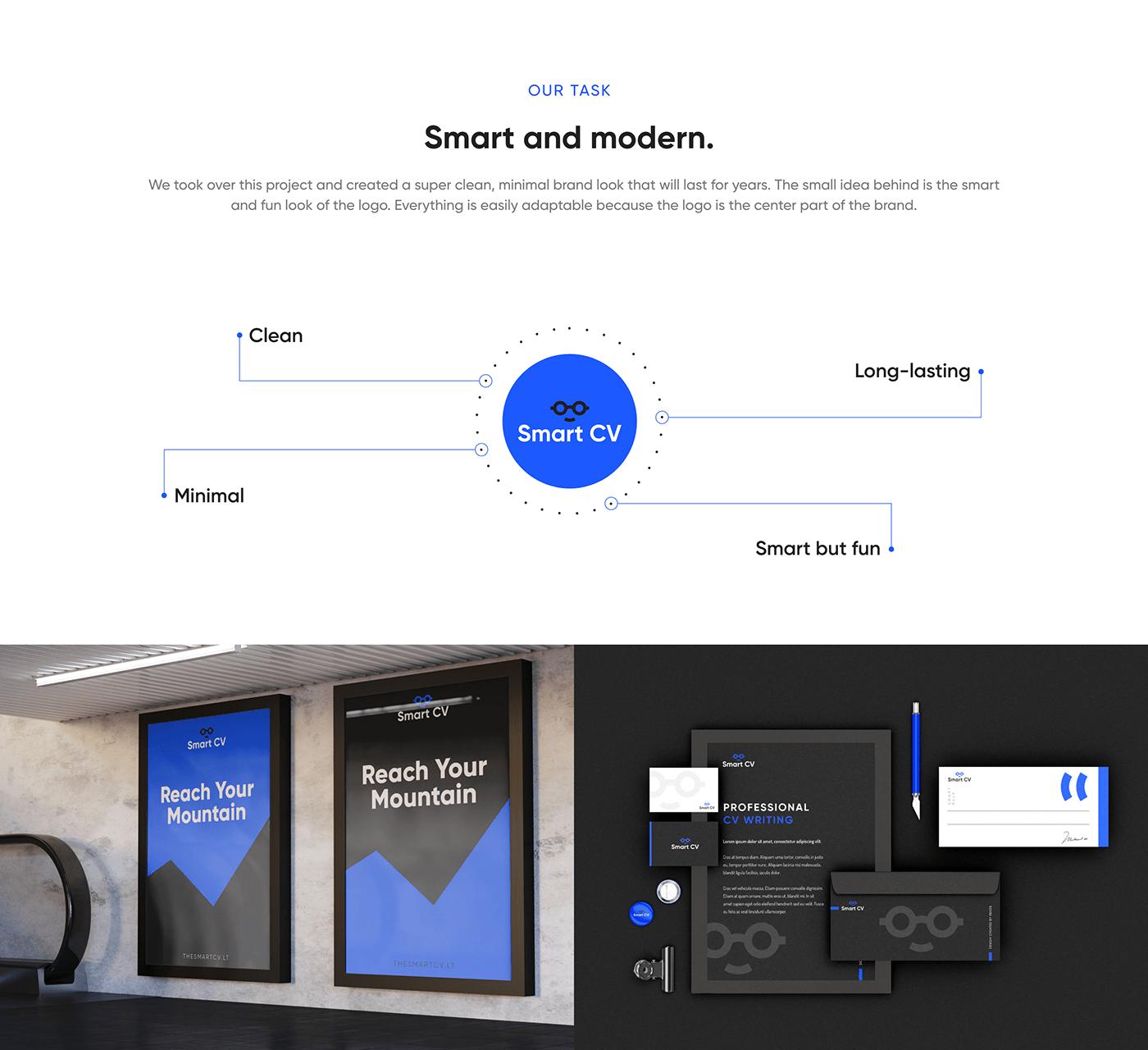 blue brand identity brandbook branding  logo logobook minimal minimalistic modern Website