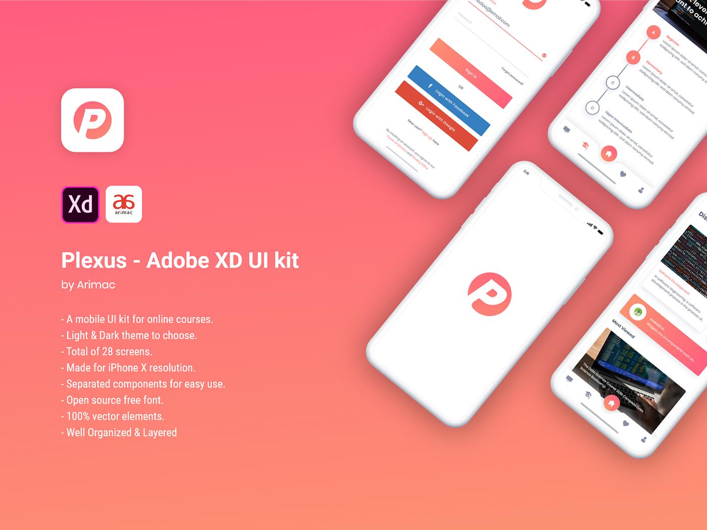 Plexus - Free Adobe XD UI kit