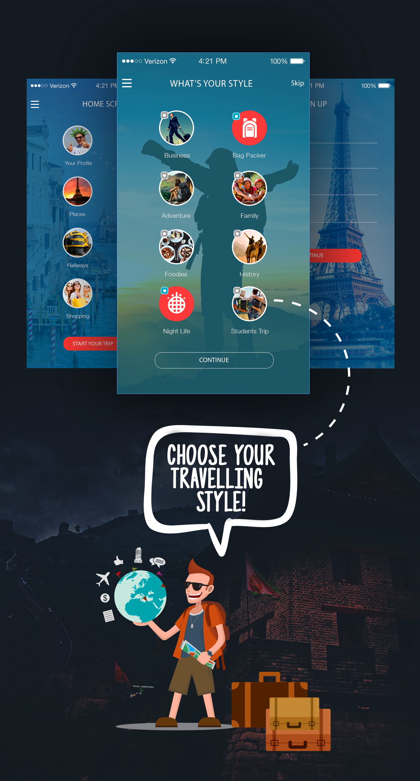 app design user interface ux application iphone ios android UI Mobile app Travel app Interface