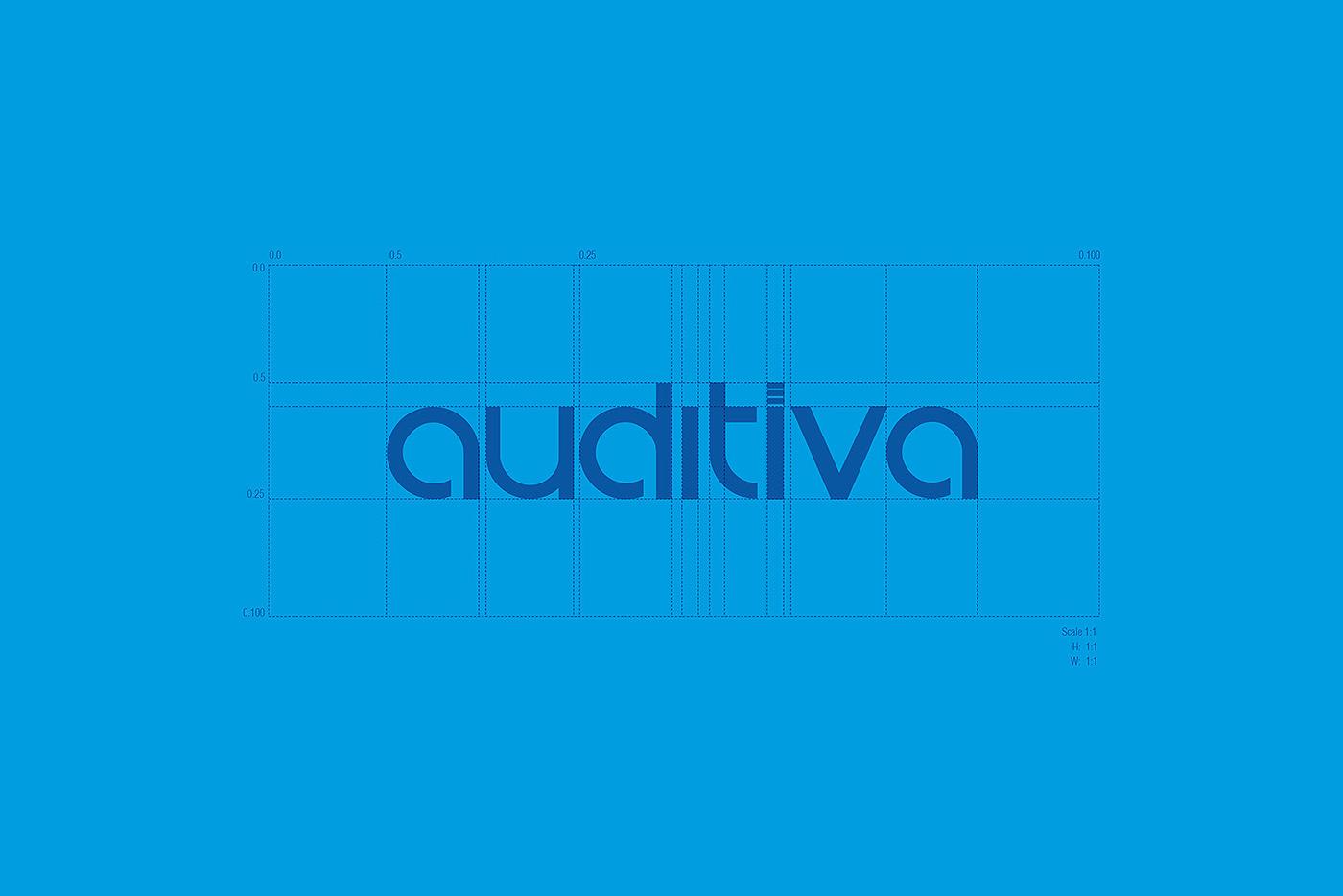 auditiva david espinosa colombia Sonido blue logo Web Icon identity identidad