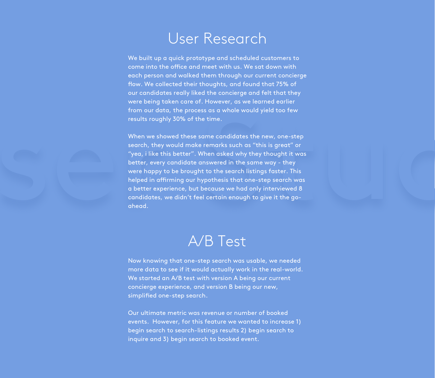 Storefront search UI ux process study