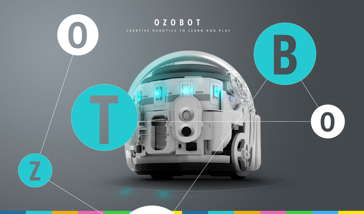 Ozobot Character design  Packaging ILLUSTRATION  design toys graphic design  animation  3D vector
