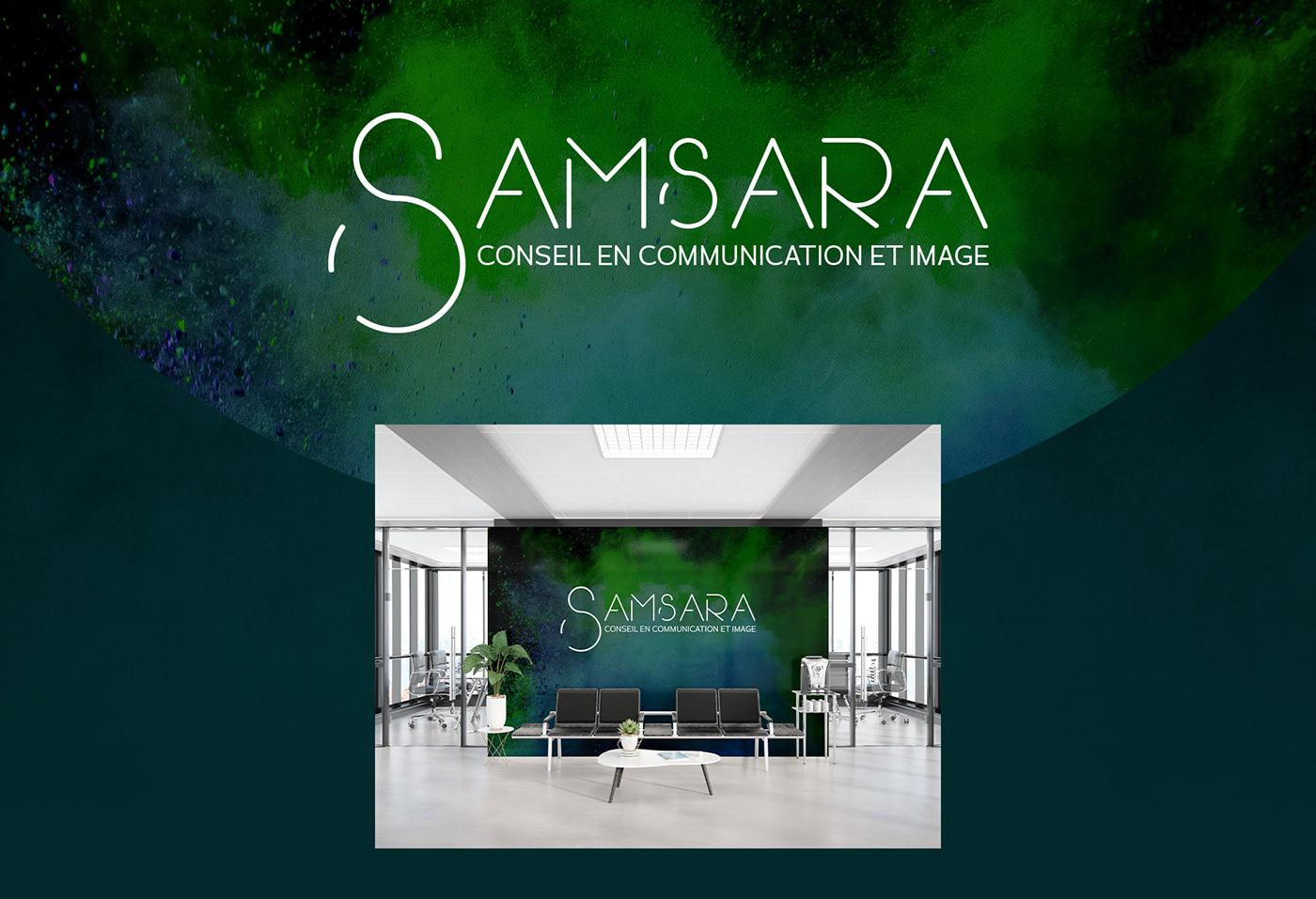 logo Logotype identité visuelle Corporate Design corporate design samsara