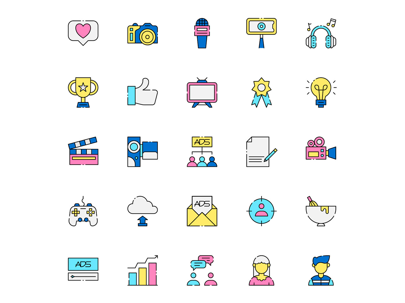 freebie icon design  icons download icons pack icons set INFLUENCER influencer icon influencer vector vector design vector icon